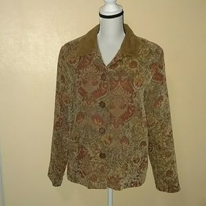 Size large flower print jacket from Napa valley
